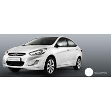 Бампер передний Hyundai Solaris 2011-2015 новый. окрашенный Cristal White (Белый кристалл) (PGU) аналог 865111R000