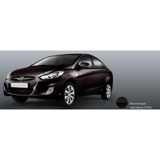 Бампер передний Hyundai Solaris 2011-2015 новый. окрашенный Purple Fantasia (Фиолетовый перламутр) (пурпурная композиция) (TXA) аналог 865111R000