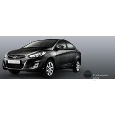 Бампер передний Hyundai Solaris 2011-2015 новый. окрашенный Carbon Grey (Серый металлик) (серый углерод) (SAE) аналог 865111R000