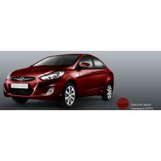 Бампер передний Hyundai Solaris 2011-2015 новый. окрашенный Garnet Red (Красный гранат перламутр) (красный гранат) (TDY) аналог 865111R000