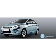 Бампер передний Hyundai Solaris 2011-2015 новый. окрашенный Ice Silver (Голубой металлик) (серебряный лед) (VEA) аналог 865111R000